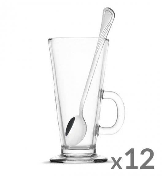 TADAR Komplet 12 szklanek Caffee Latte 270 ml + 12 łyżeczek koktajlowych Tadar Amazon