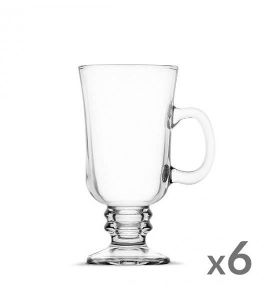 WYPRZEDAŻ! TADAR Komplet 6 szklanek Irish Coffe 240 ml Kawa Latte