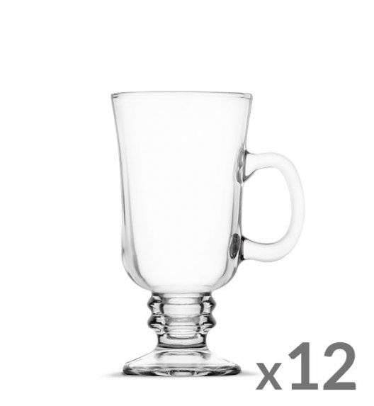 WYPRZEDAŻ! TADAR Komplet 12 szklanek Irish Coffe 240 ml Kawa Latte