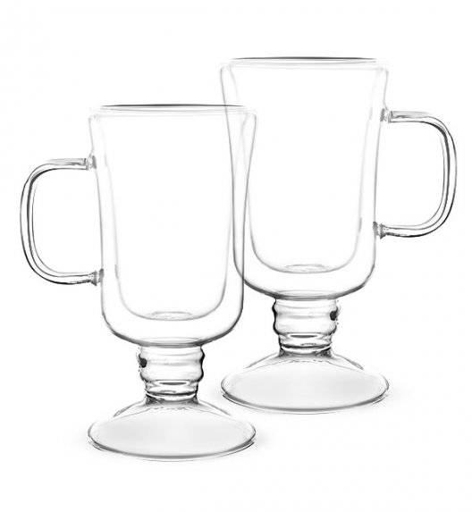 TADAR SUBLIME Komplet 2 szklanek termicznych do latte 200 ml z podwójną ścianką / szkło