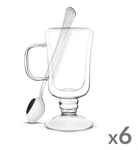 TADAR SUBLIME Komplet 6 szklanek termicznych do latte 200 ml z podwójną ścianką + 6 łyżeczek koktajlowych Tadar Amazon