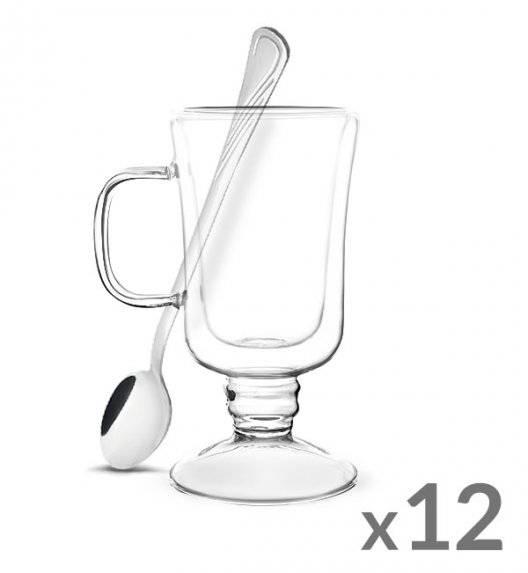 TADAR SUBLIME Komplet 12 szklanek termicznych do latte 200 ml z podwójną ścianką + 12 łyżeczek koktajlowych Tadar Amazon