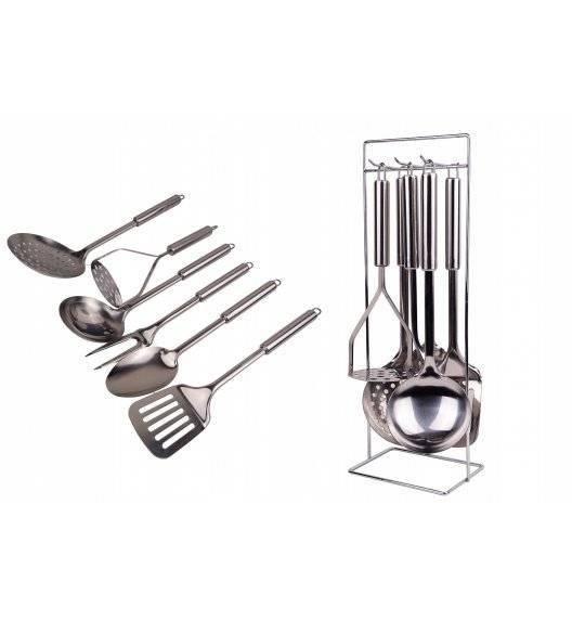 WYPRZEDAŻ! BRUNBESTE 1525 Zestaw przyborów kuchennych / 7 elementów / stal nierdzewna