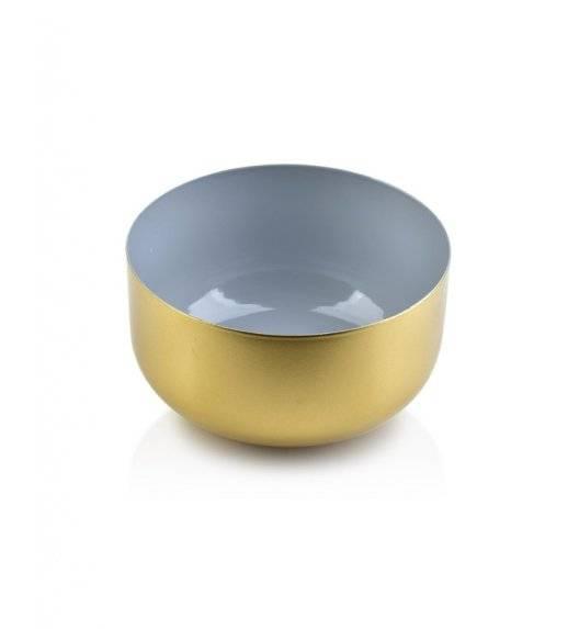 MONDEX ANISHA Misa dekoracyjna / szary, złoty / 13 x 5,7 cm / metal