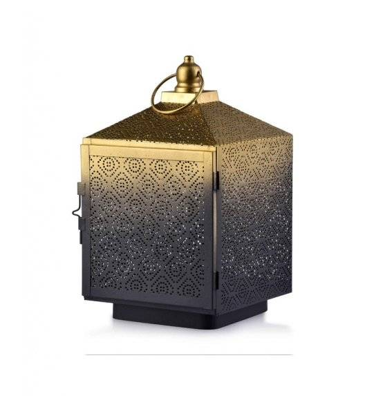 MONDEX LALI Ażurowy lampion na świeczki 16 x 16 x 27,5 cm / metal