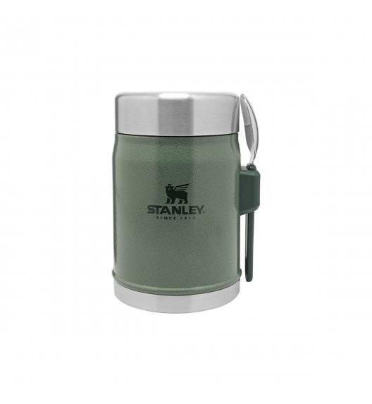 STANLEY CLASSIC Termos obiadowy ze sztućcem 400 ml / zielony / stal nierdzewna, tworzywo sztuczne