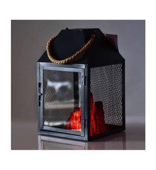 MONDEX KANVAR Lampion kominek LED 17 x 17 x 30 cm / metal, szkło