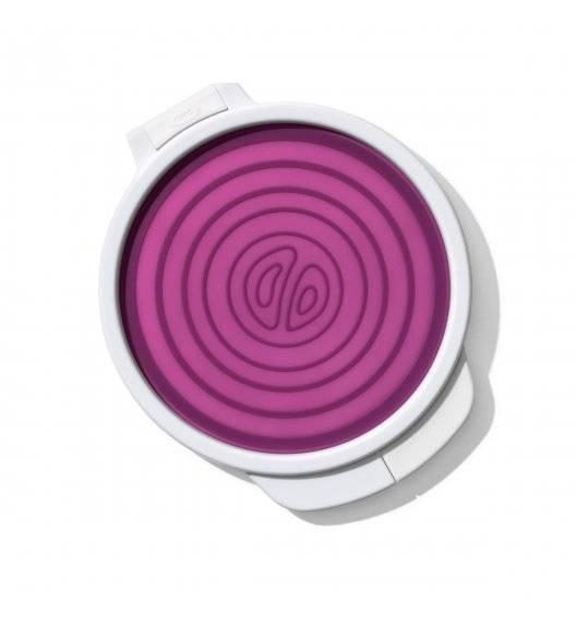 OXO GOOD GRIPS Pojemnik osłonka do cebuli / fioletowy, biały / tworzywo sztuczne