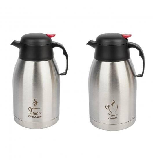 TADAR Komplet 2 dzbanków konferencyjnych na herbatę i kawę 2 L / stal nierdzewna