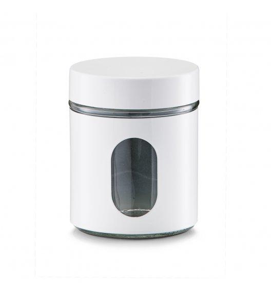 WYPRZEDAŻ! ZELLER Okrągły pojemnik do przechowywania 600 ml / biały / szkło