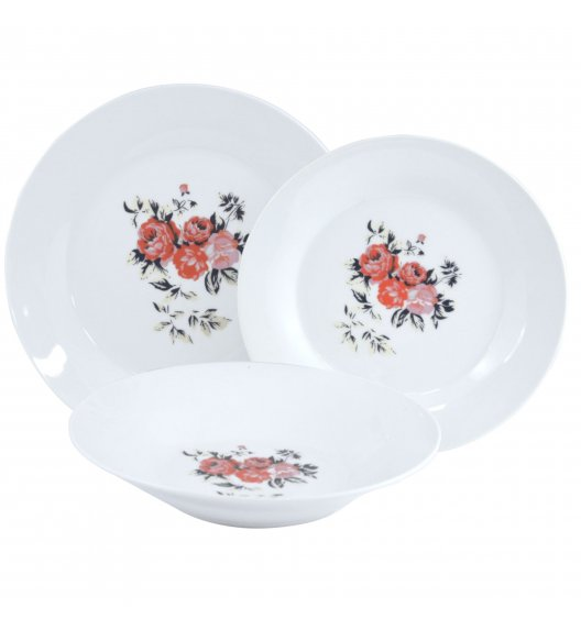 TADAR PIWONIA Serwis obiadowy 54 elementy dla 18 osób / porcelana