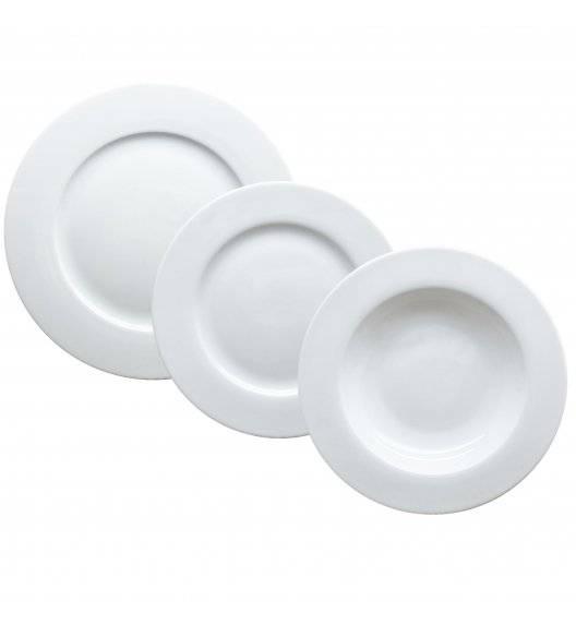 TADAR EVELYN SUPER WHITE Serwis obiadowy 18 elementów dla 6 osób / porcelana