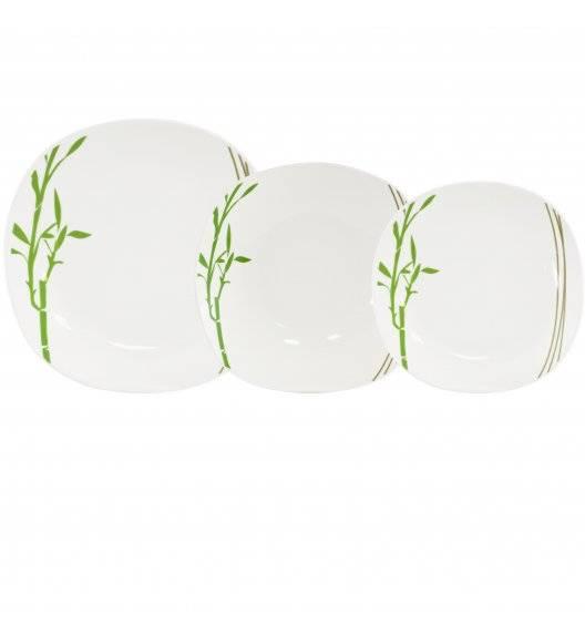 TADAR BAMBUS Serwis obiadowy 54 elementy dla 18 osób / porcelana