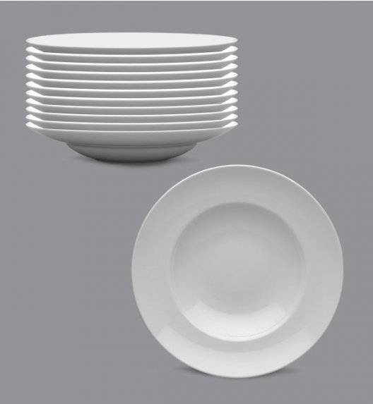 LUBIANA KASZUB Komplet talerze głębokie do pasty / makaronu 24 cm / 12 osób / 12 el / porcelana