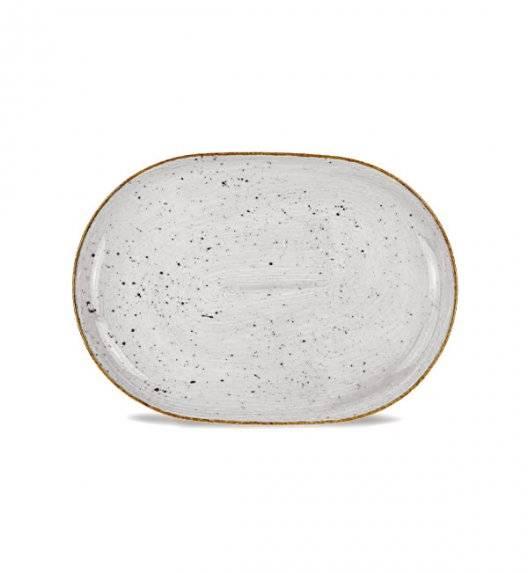 LUBIANA BOSS 6630Z Półmis 28 cm / szary / porcelana ręcznie malowana