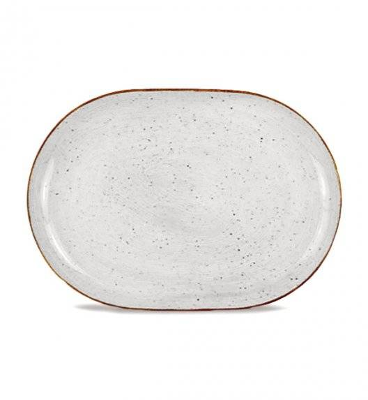 LUBIANA BOSS 6630Z Półmis 33 cm / szary / porcelana ręcznie malowana