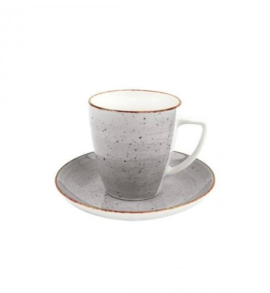 LUBIANA BOSS 6630Z Filiżanka 200 ml + spodek / szary / porcelana ręcznie malowana