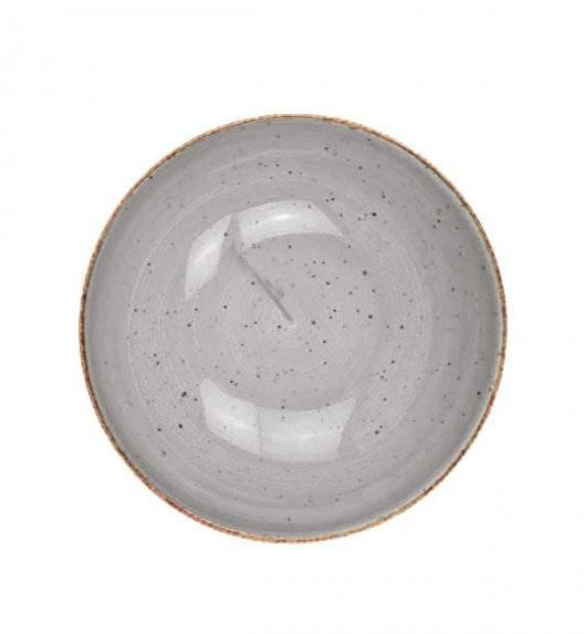 LUBIANA BOSS 6630Z Talerz głęboki 18 cm / szary / porcelana ręcznie malowana