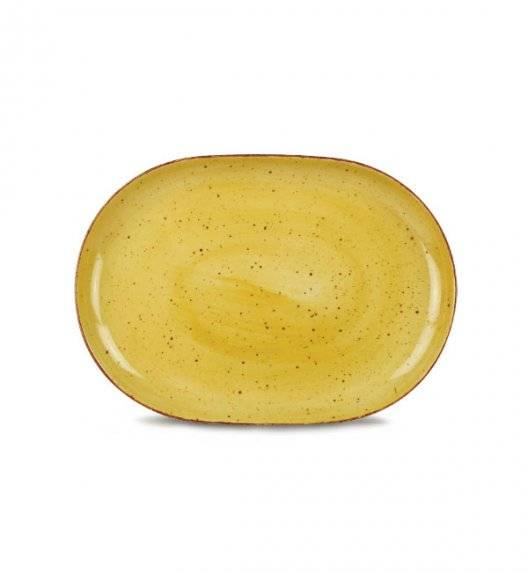 LUBIANA BOSS 6630J Półmis 28 cm / żółty / porcelana ręcznie malowana