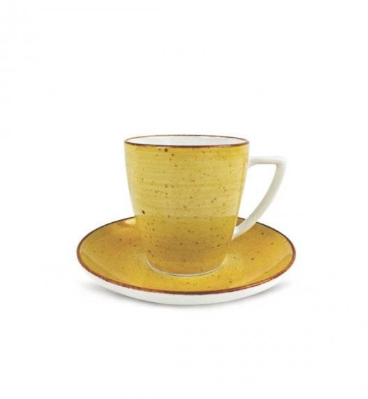 LUBIANA BOSS 6630J Filiżanka 200 ml + spodek / żółty / porcelana ręcznie malowana