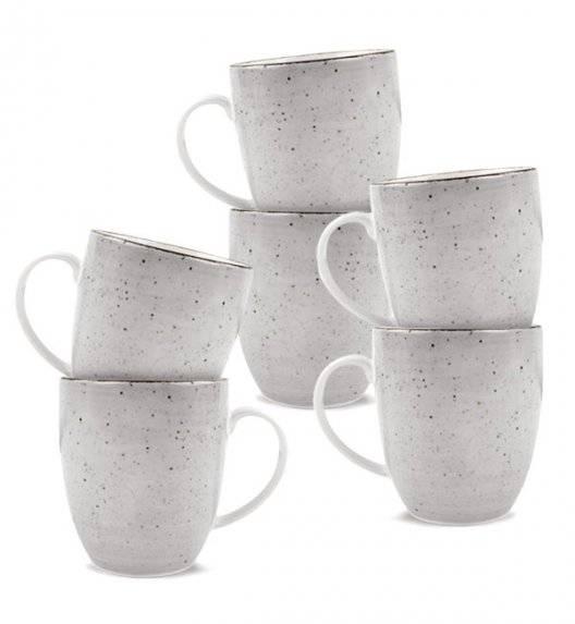 LUBIANA BOSS 6630Z Komplet kubków 380 ml / 6 os / 6 el / szary / porcelana ręcznie malowana