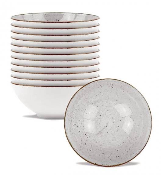 LUBIANA BOSS 6630Z Komplet salaterek 15 cm / 12 os / 12 el / szara / porcelana ręcznie malowana