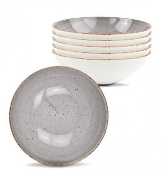 LUBIANA BOSS 6630Z Komplet talerzy głębokich 18 cm / 6os / 6 el / szary / porcelana ręcznie malowana