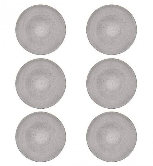 LUBIANA BOSS 6630Z Komplet talerzy obiadowych 27 cm / 6 os / 6 cm / szary / porcelana ręcznie malowana