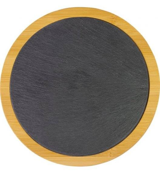 WESTMARK Deska do serwowania ø 28 cm / łupek + bambus