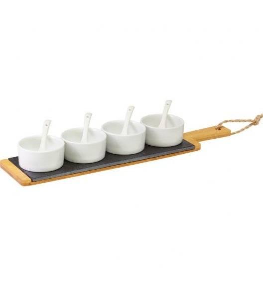 WESTMARK Zestaw do serwowania 9 el / łupek + bambus + ceramika