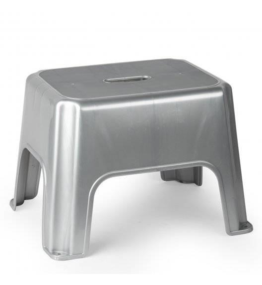 PLASTIC FORTE POCKET Taboret z tworzywa sztucznego / srebrny