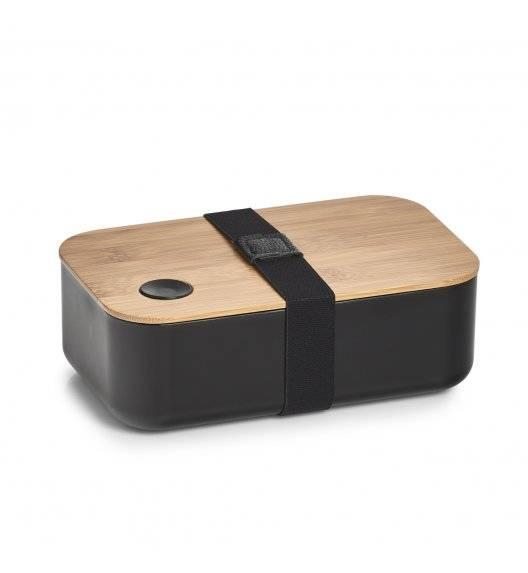 ZELLER Pojemnik na lunch 19,3 x 11,8 cm / czarny / bambus + tworzywo sztuczne