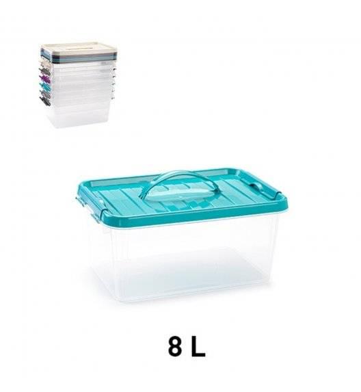 PLASTIC FORTE Pojemnik do przechowywania z uchwytem 8 L / mix kolorów / tworzywo sztuczne
