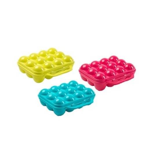 PLASTIC FORTE Pojemnik, wytłoczka na 12 jajek / mix kolorów