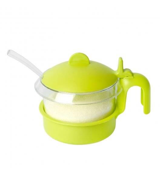 HEGA Kolorowa cukiernica z łyżeczką 450 ml / tworzywo sztuczne / mix kolorów
