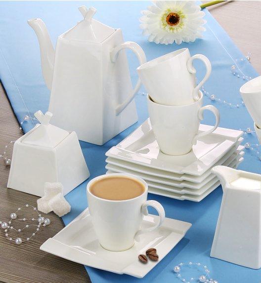 AMBITION KUBIKO Komplet kawowy 34 elementy dla 12 osób / porcelana