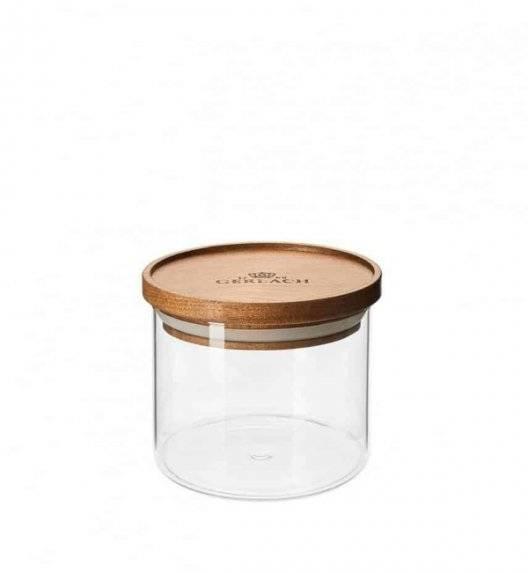 GERLACH COUNTRY Szklany pojemnik na żywność / akacjowa pokrywka 350 ml