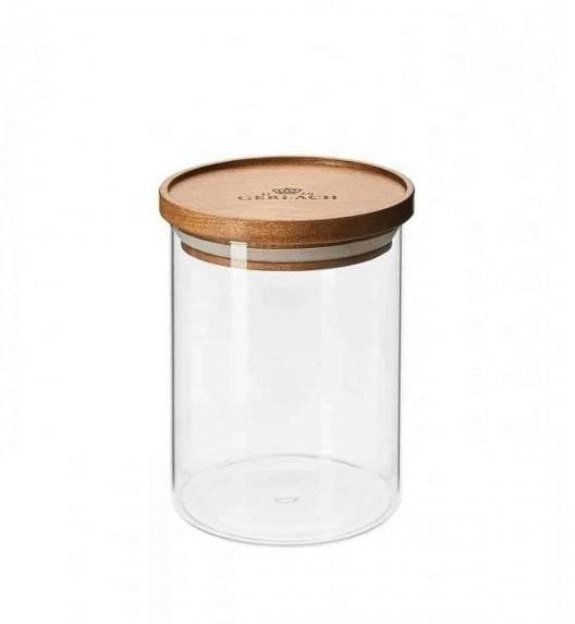 GERLACH COUNTRY Szklany pojemnik na żywność / akacjowa pokrywka 700 ml
