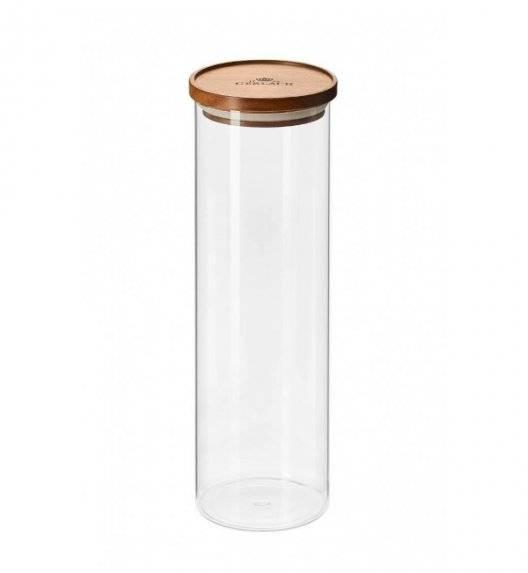 GERLACH COUNTRY Szklany pojemnik na żywność / akacjowa pokrywka 1,8 l