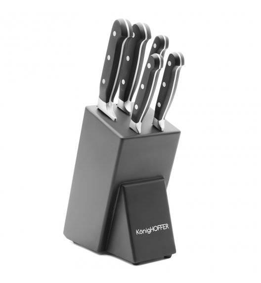 KonigHOFFER SOMA Komplet 5 noży w bloku / drewno kauczukowe