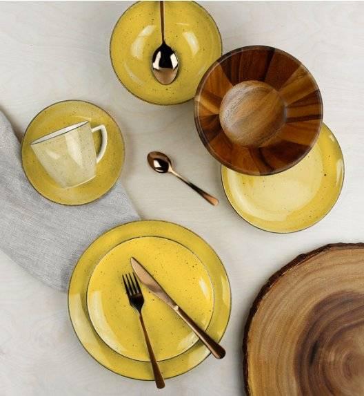 LUBIANA BOSS 6630J Serwis obiadowo - kawowy 60 el / 12 osób / żółty / porcelana ręcznie malowana