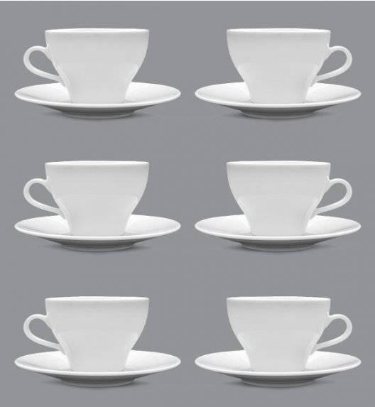 LUBIANA PAULA Komplet filiżanka 290 ml + spodek 17 cm / 6 os / 12 el / porcelana