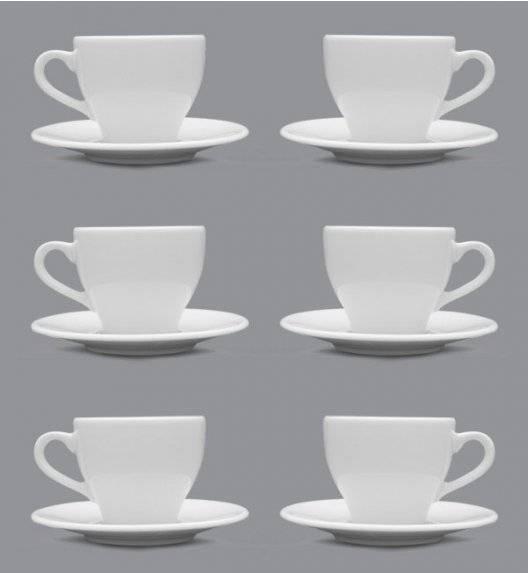 LUBIANA PAULA Filiżanka 200 ml + spodek 14 cm / 6 os / 12 el / porcelana