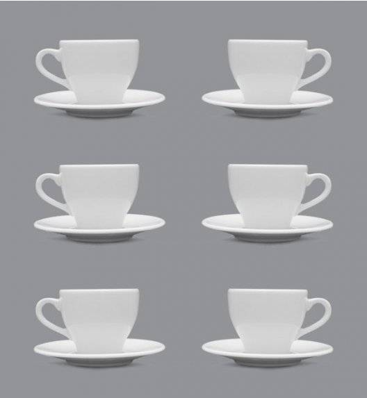 LUBIANA PAULA Komplet filiżanka do espresso 70 ml + spodek 12 cm / 6 os / 12 el / porcelana