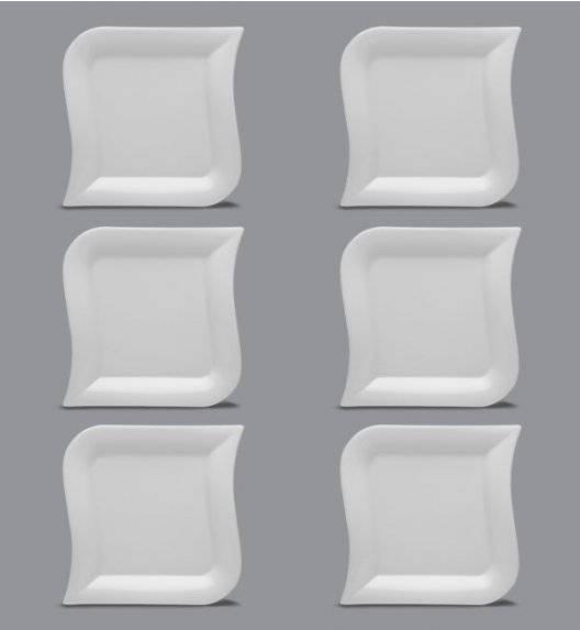 LUBIANA OPERA Komplet talerz obiadowy 27 cm / 6 el / 6 os / porcelana