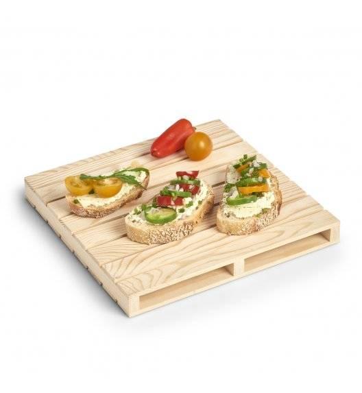 ZELLER Taca do serwowania 24 x 24 cm / drewno sosnowe