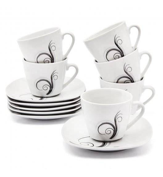 TADAR DOLCE VITA Serwis kawowy 12 elementów dla 6 osób / porcelana
