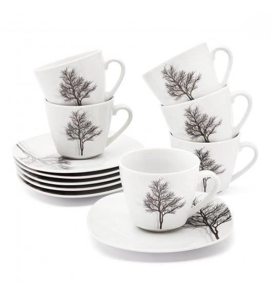 TADAR ZIMA Serwis kawowy 12 elementów dla 6 osób / porcelana