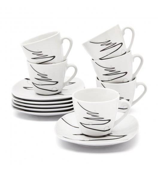TADAR WSTĘGA Serwis kawowy 12 elementów dla 6 osób / porcelana
