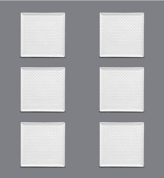 LUBIANA MARRAKESZ Komplet talerz deserowy 20,5 cm / 6 os / 6 el / porcelana